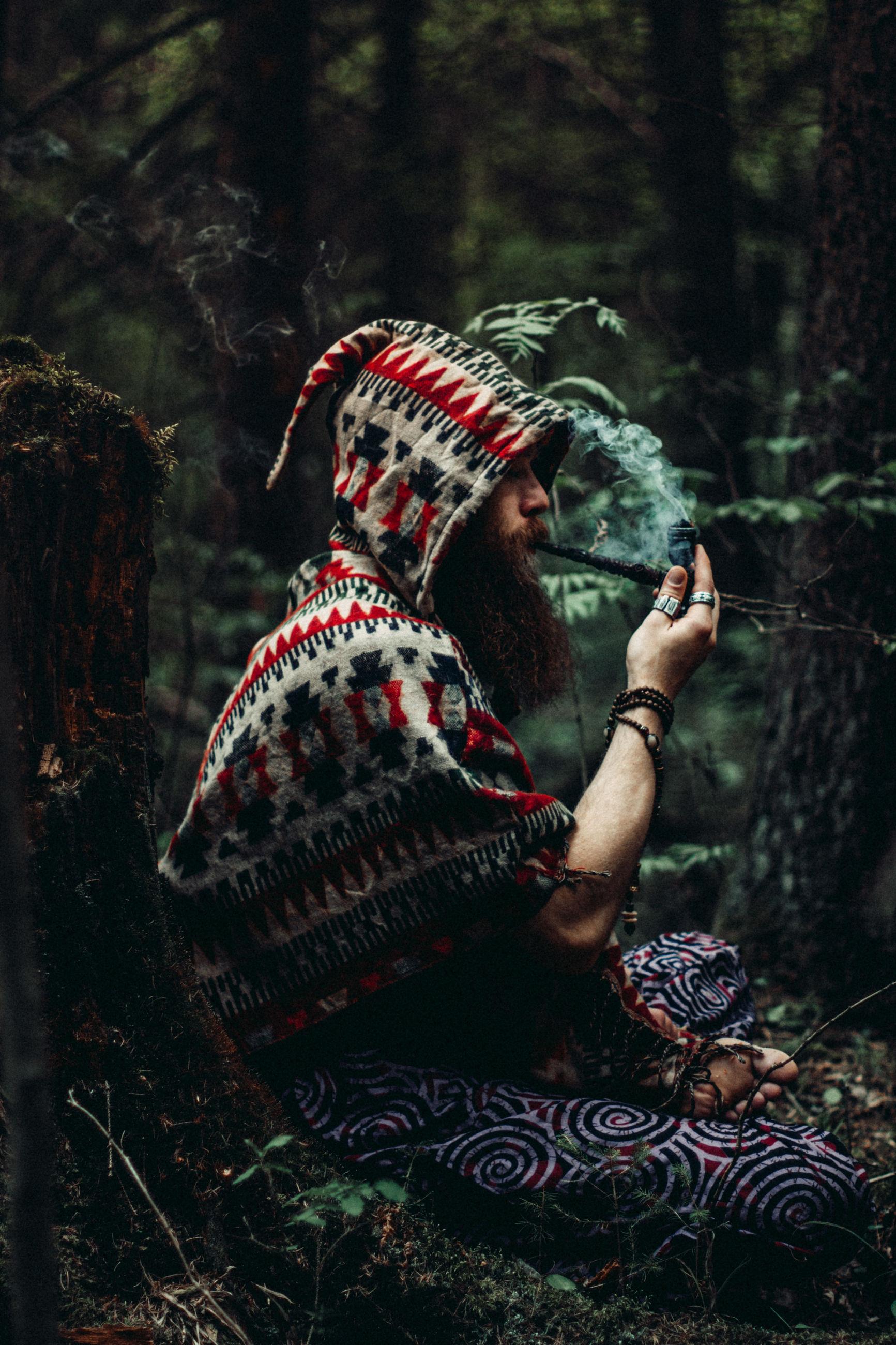 Meditating shaman