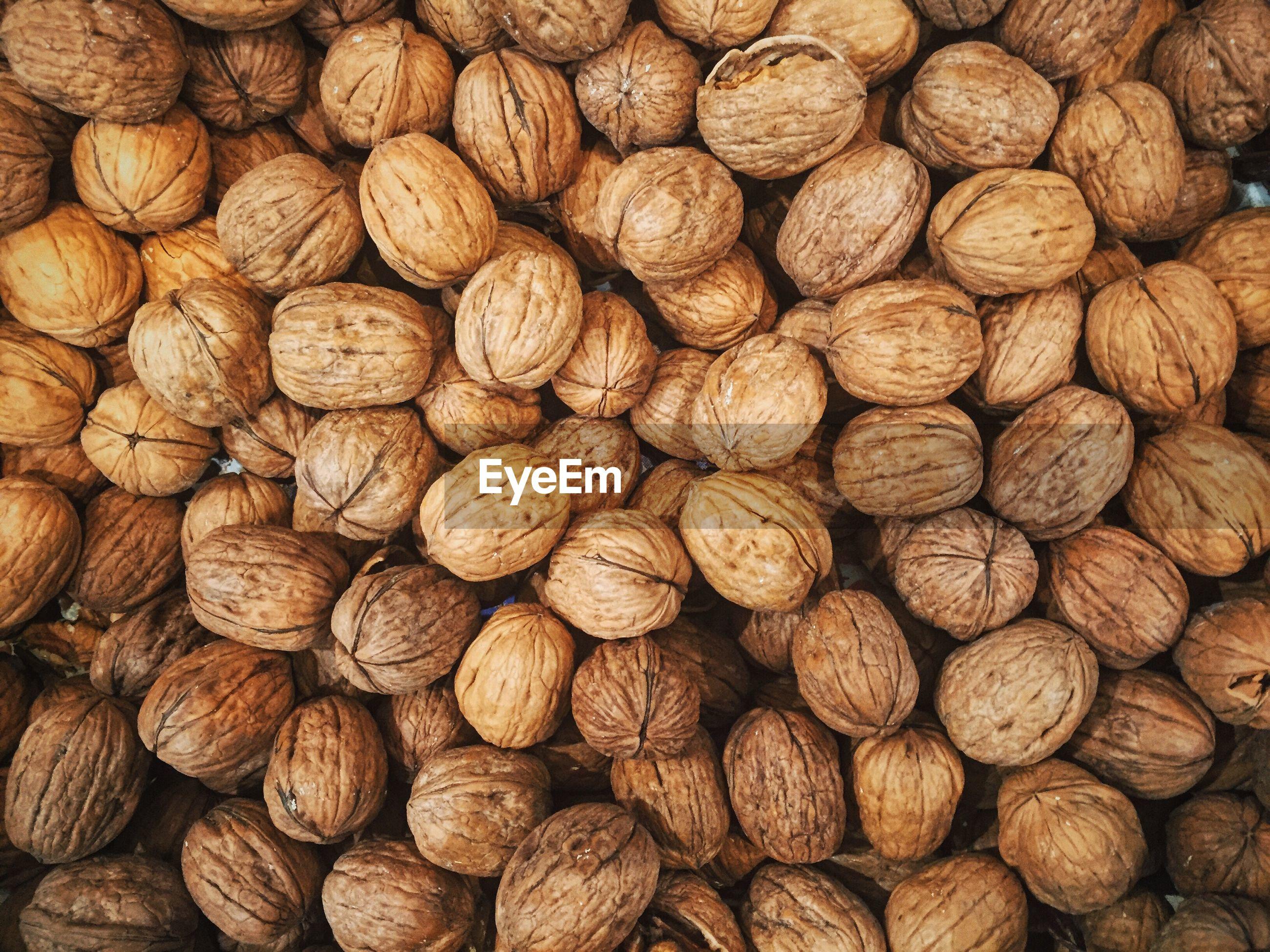 Full frame shot of walnut
