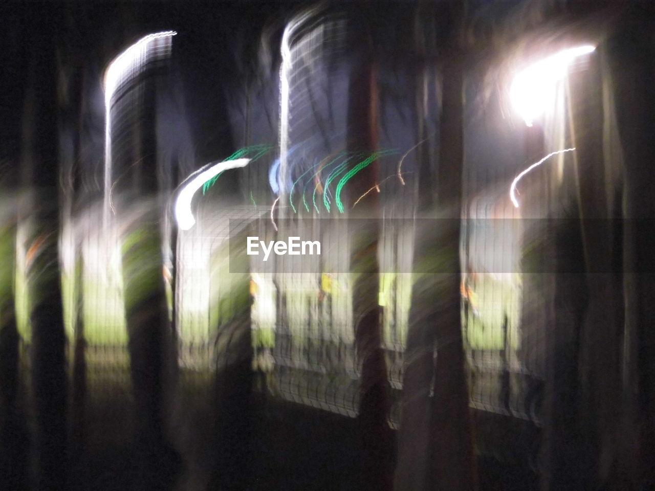 long exposure, motion, illuminated, no people, outdoors, night, nature, close-up