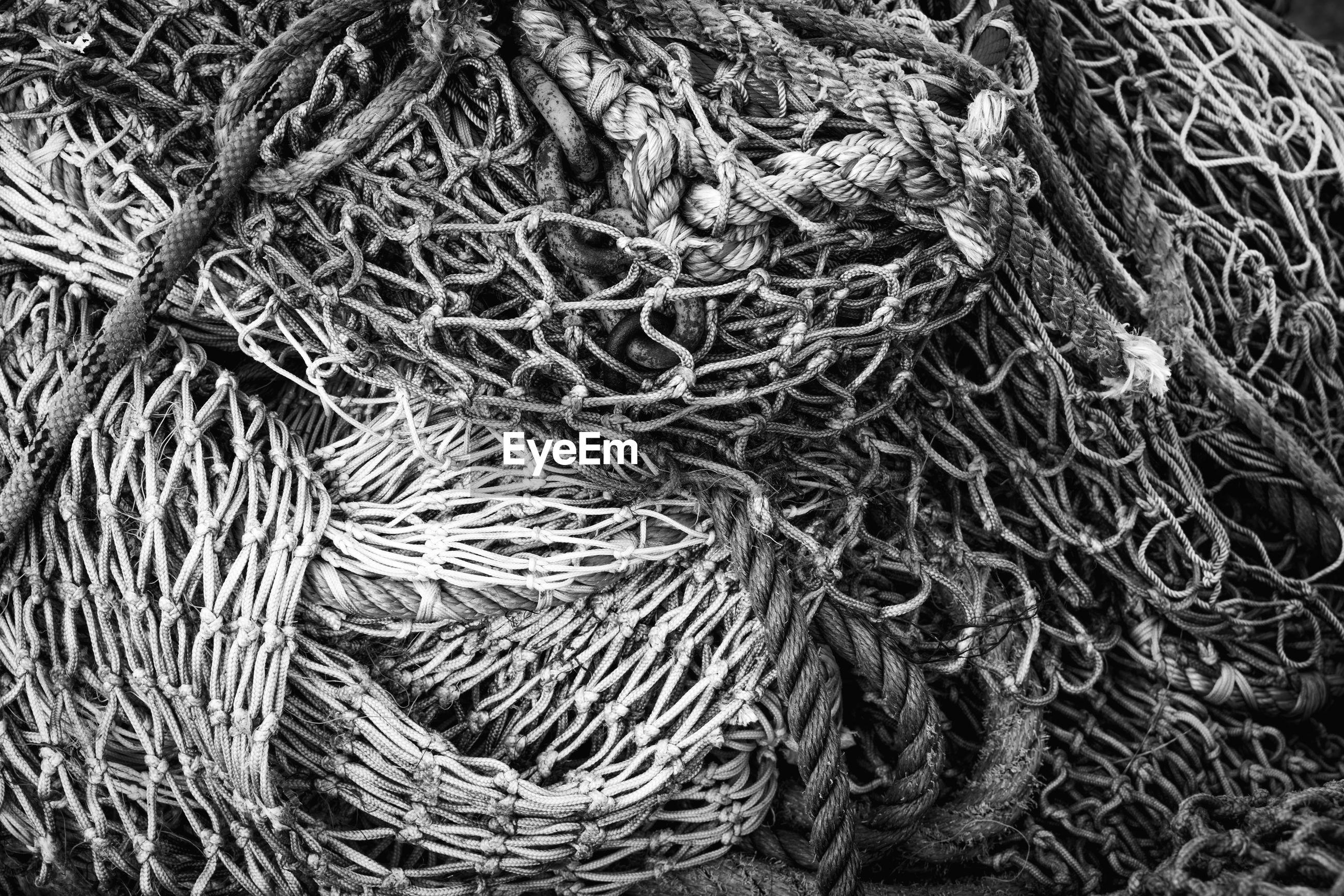 FULL FRAME OF FISHING NET