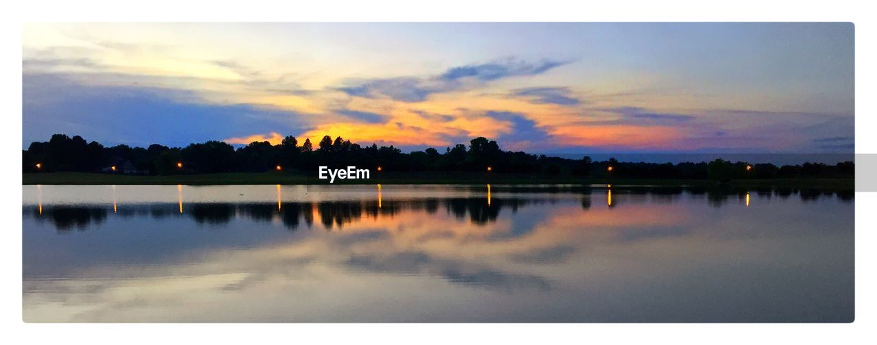 reflection, sunset, water, sky, silhouette, lake, no people, nature, outdoors, beauty in nature, scenics