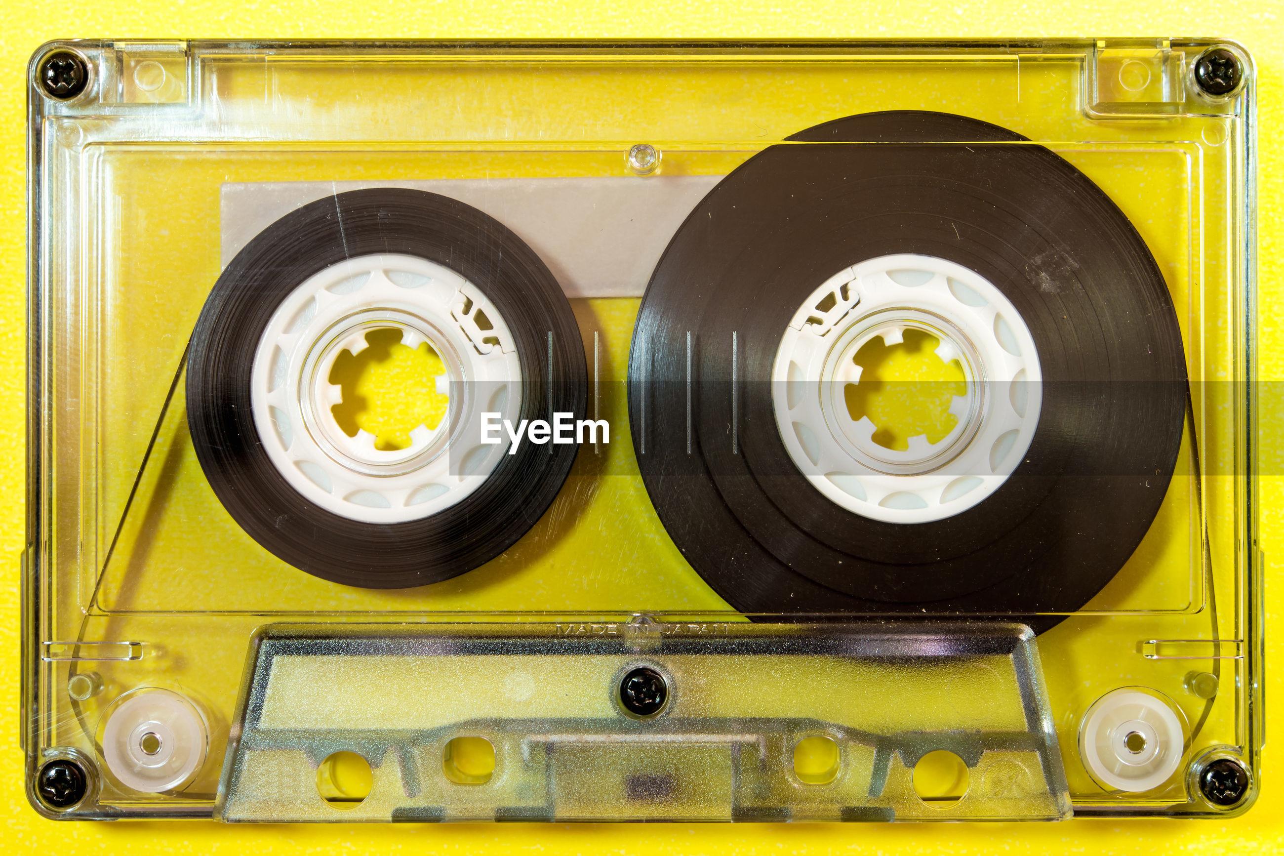 Full frame shot of audio cassette
