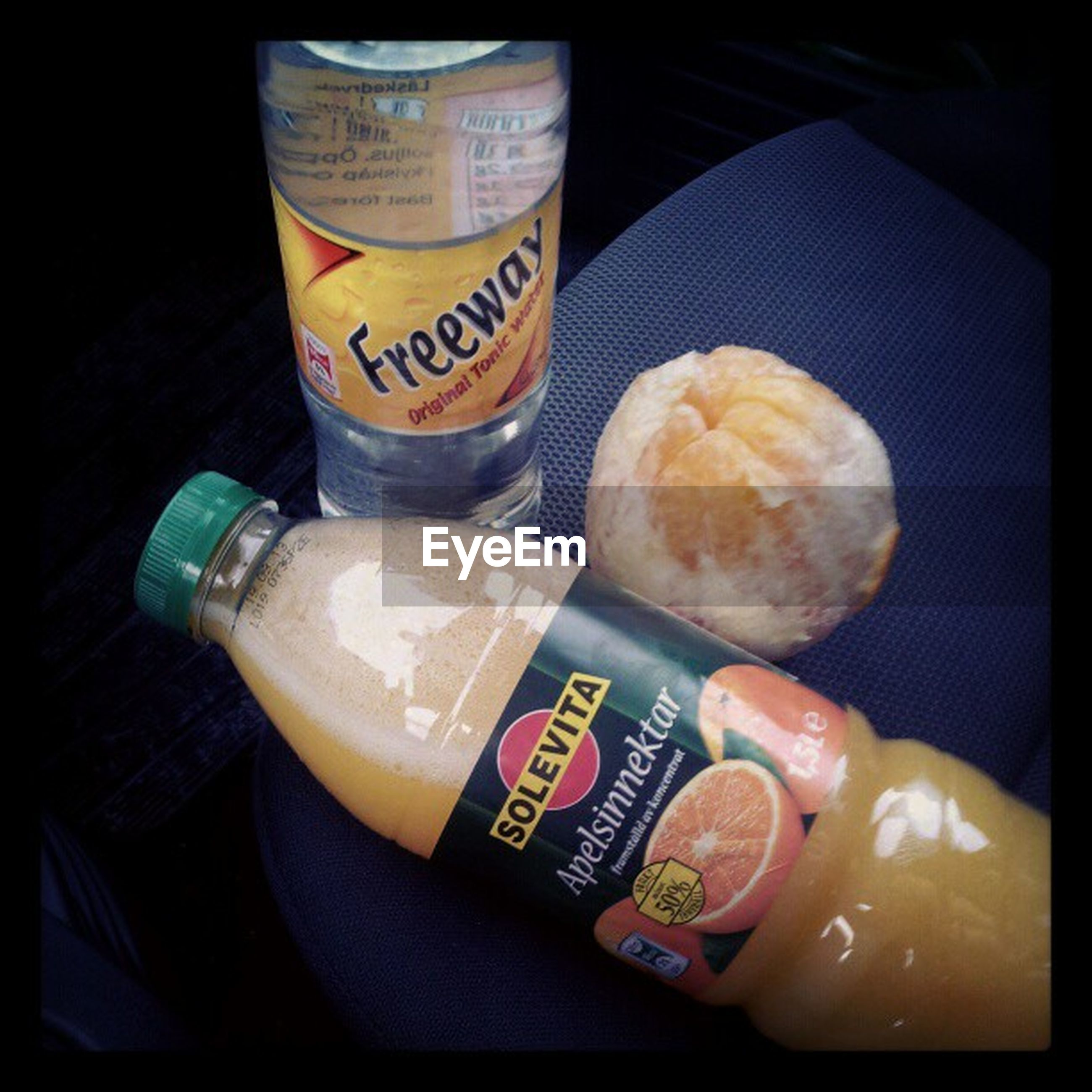 food and drink, indoors, text, western script, still life, freshness, communication, food, drink, variation, high angle view, close-up, choice, refreshment, table, healthy eating, no people, price tag, bottle, paper