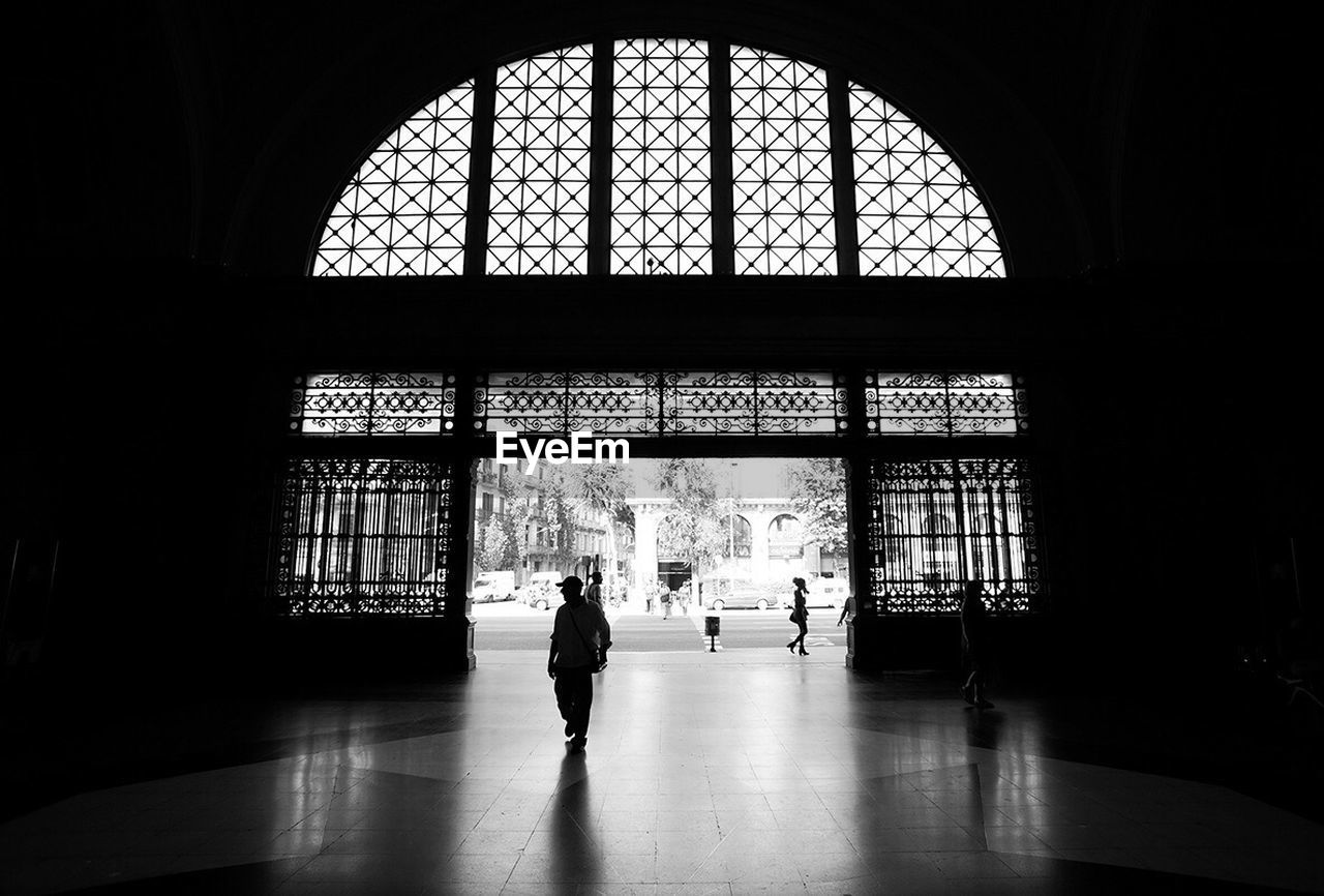 Ornate Glass Entrance