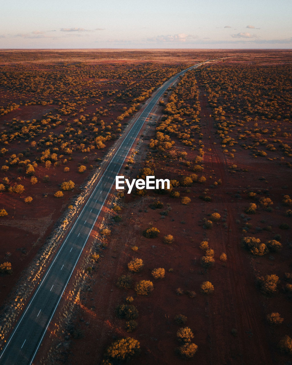 environment, sky, transportation, no people, nature, landscape, scenics - nature, direction, horizon, land, rail transportation, high angle view, road, outdoors, tranquility, day, beauty in nature, track, tranquil scene, the way forward, climate, arid climate