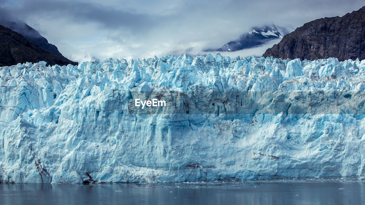 ice, glacier, cold temperature, water, environment, sea, landscape, nature, sky, environmental issues, climate change, cold, frozen, melting, snow, mountain, wilderness, beauty in nature, iceberg