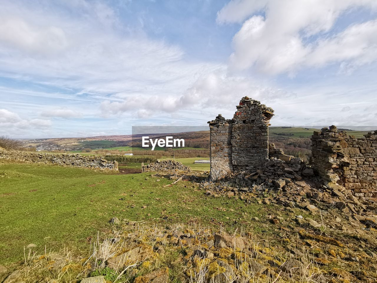 cloud - sky, sky, architecture, history, built structure, the past, nature, old ruin, land, no people, field, day, old, ancient, environment, landscape, plant, building exterior, grass, ruined, outdoors, ancient civilization, stone wall, ancient history, archaeology