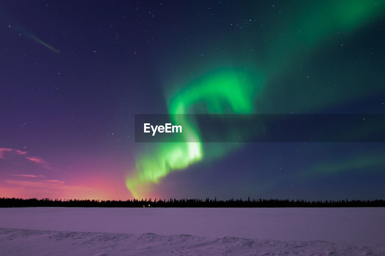 Scenic View Of Sky During Winter At Night