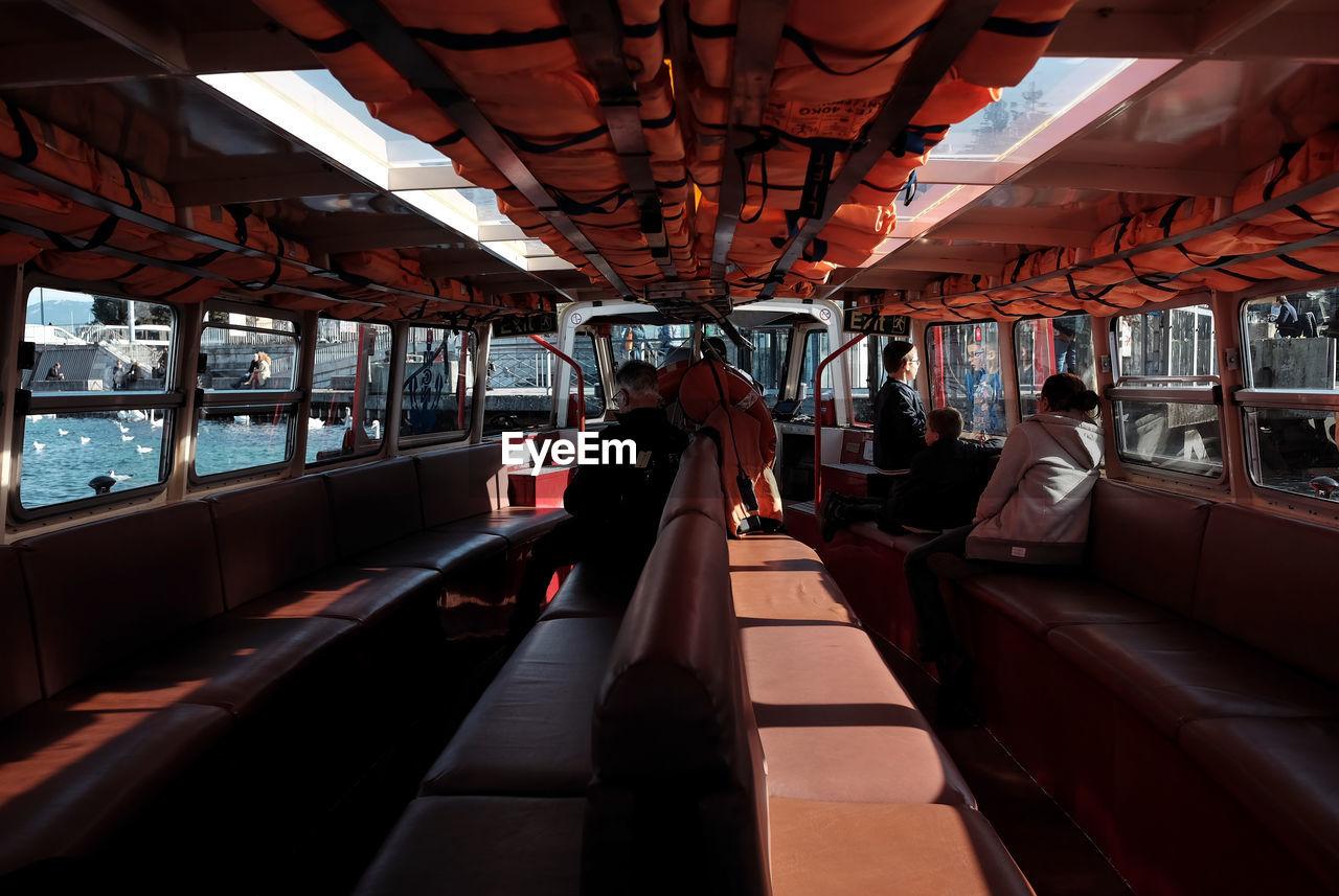Interior of water tram