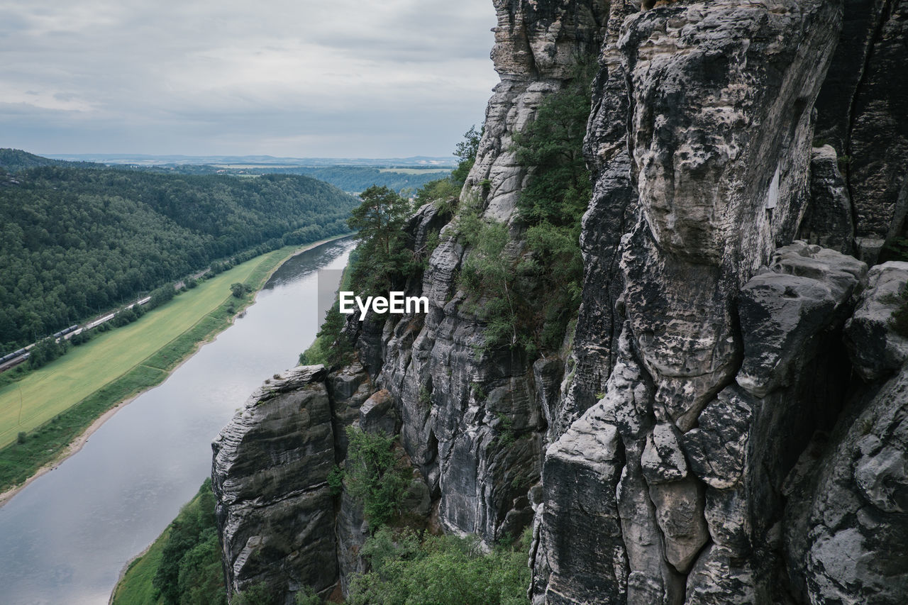 sky, nature, beauty in nature, tree, water, cloud - sky, tranquility, scenics - nature, no people, plant, tranquil scene, environment, day, rock, land, landscape, outdoors, non-urban scene, rock - object, formation