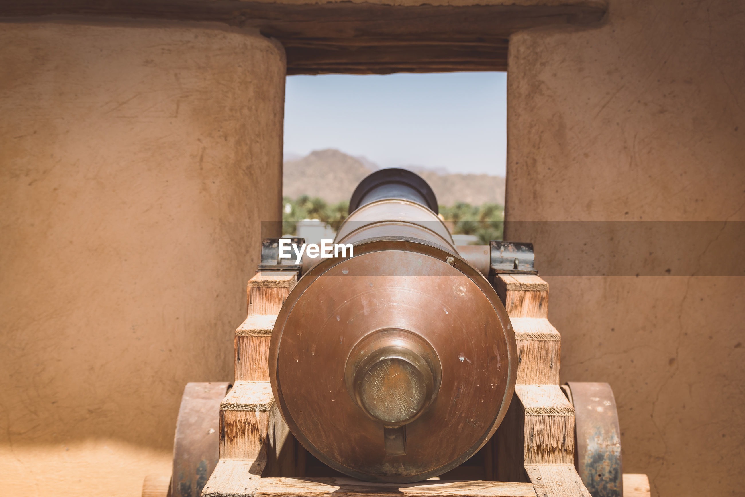Cannon in fort