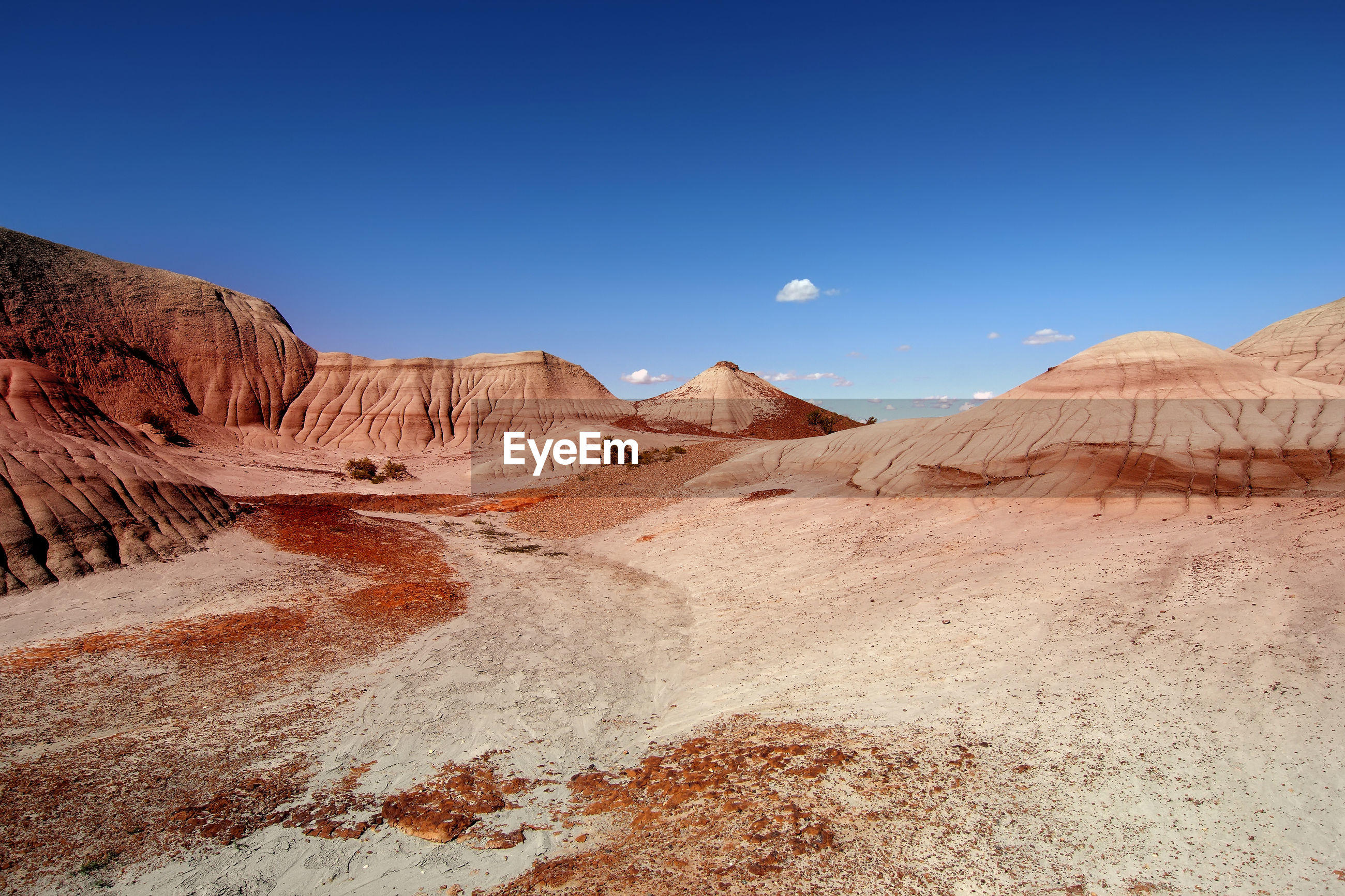 scenics - nature, sky, non-urban scene, tranquil scene, beauty in nature, landscape, tranquility, mountain, environment, clear sky, desert, nature, arid climate, blue, land, geology, no people, travel destinations, physical geography, climate, mountain range, outdoors, formation, eroded