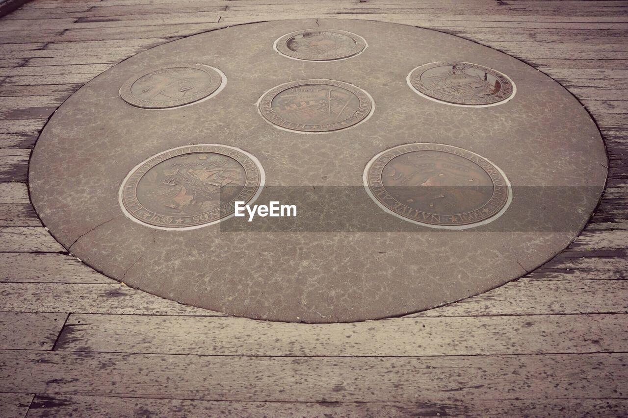circle, outdoors, day, no people, close-up