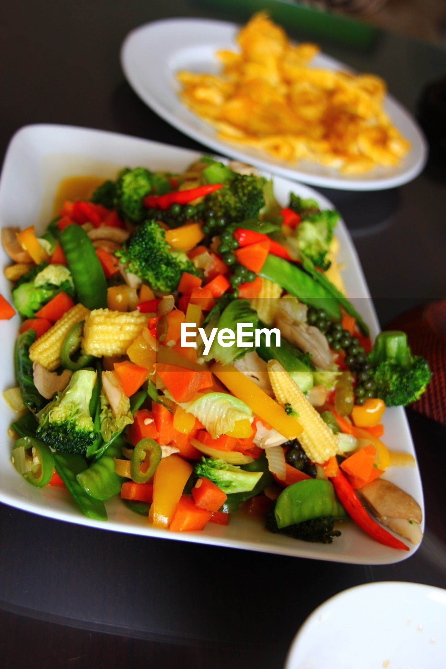 food and drink, food, indoors, freshness, healthy eating, vegetable, ready-to-eat, plate, still life, salad, close-up, meal, tomato, table, serving size, high angle view, bowl, no people, healthy lifestyle, indulgence