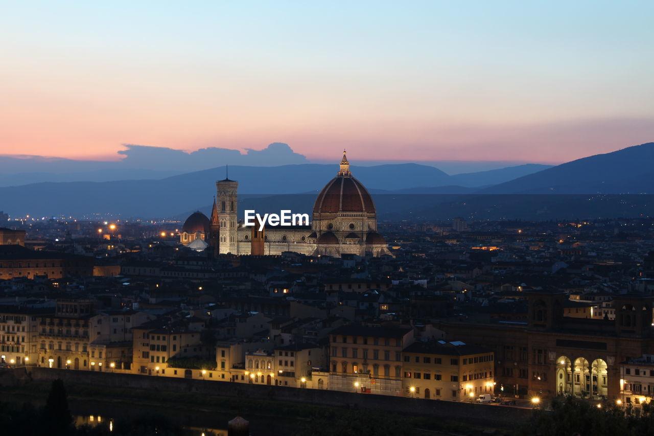Duomo Santa Maria Del Fiore In City Against Sky During Sunset