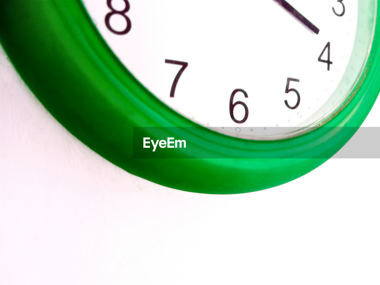 Close-Up Of Cropped Wall Clock