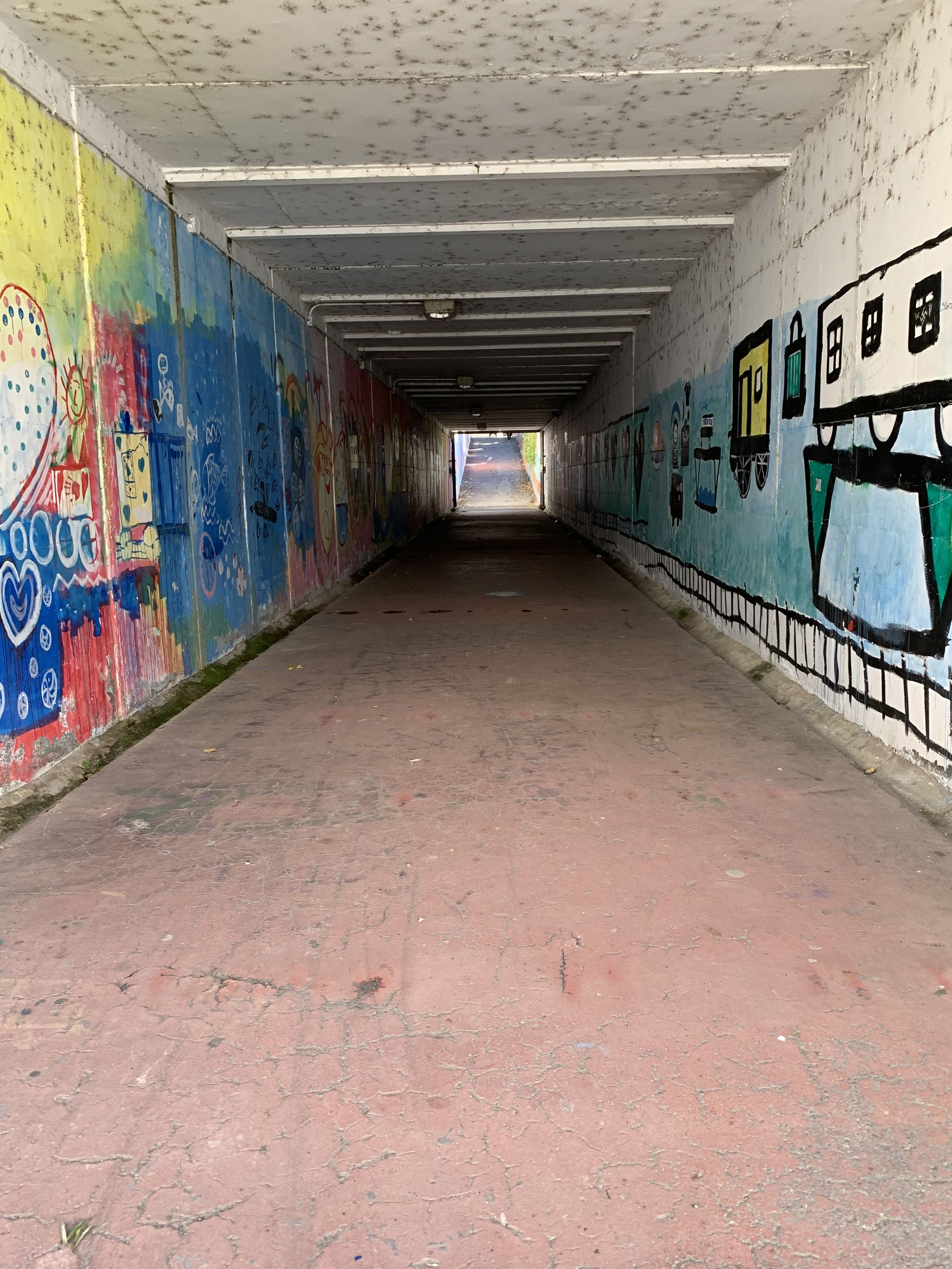 GRAFFITI ON WALL OF TUNNEL