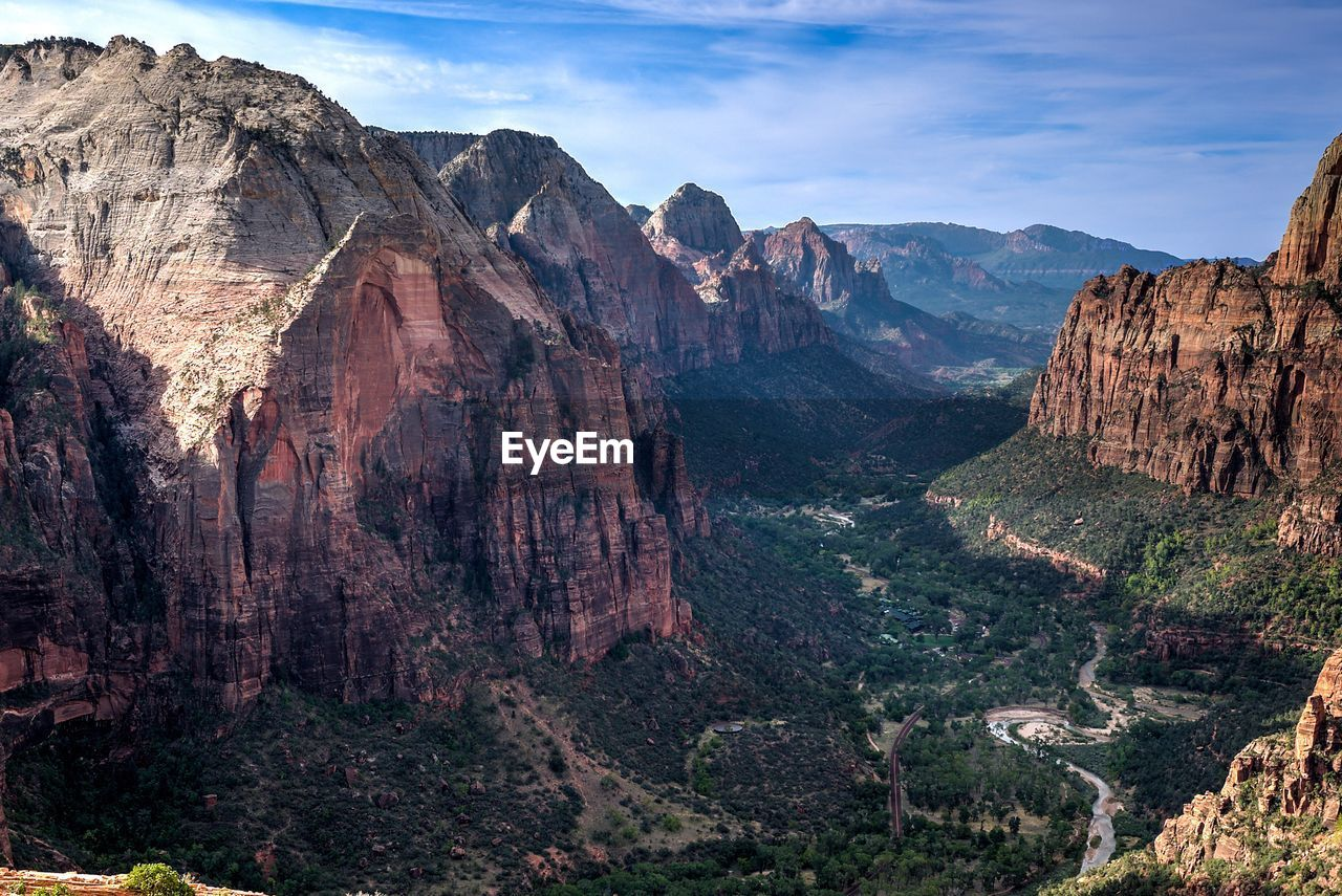 Scenic View Of Zion National Park Against Sky