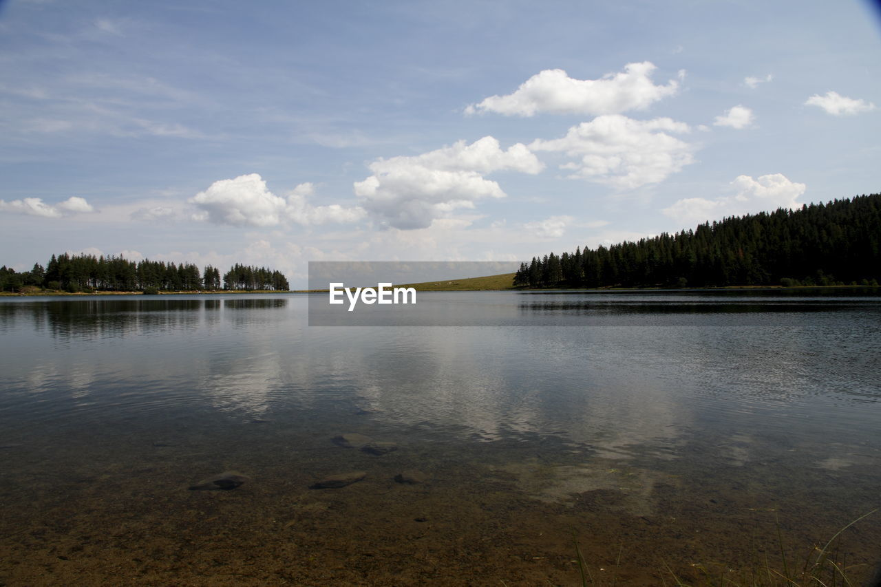 IDYLLIC VIEW OF LAKE AGAINST SKY