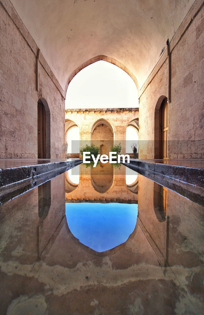 arch, architecture, built structure, water, day, bridge - man made structure, indoors, no people