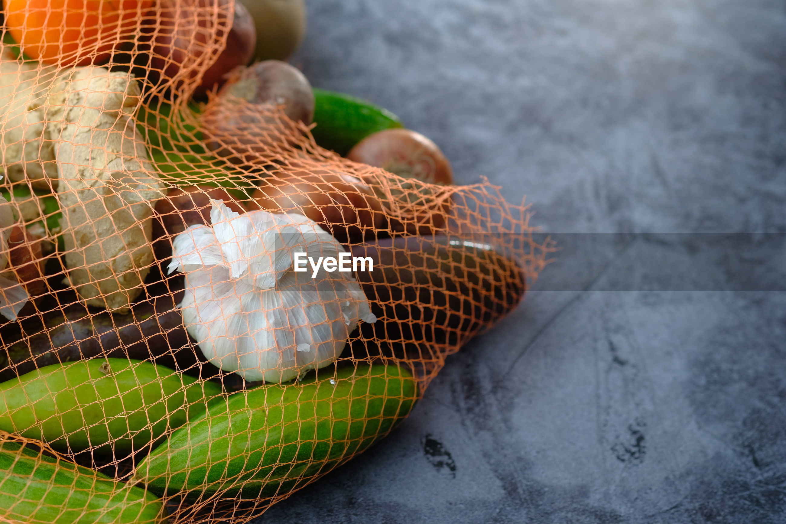 Vegetable in a shopping bag