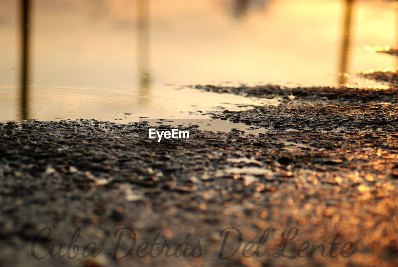no people, water, sunset, nature, outdoors, day, close-up, sky