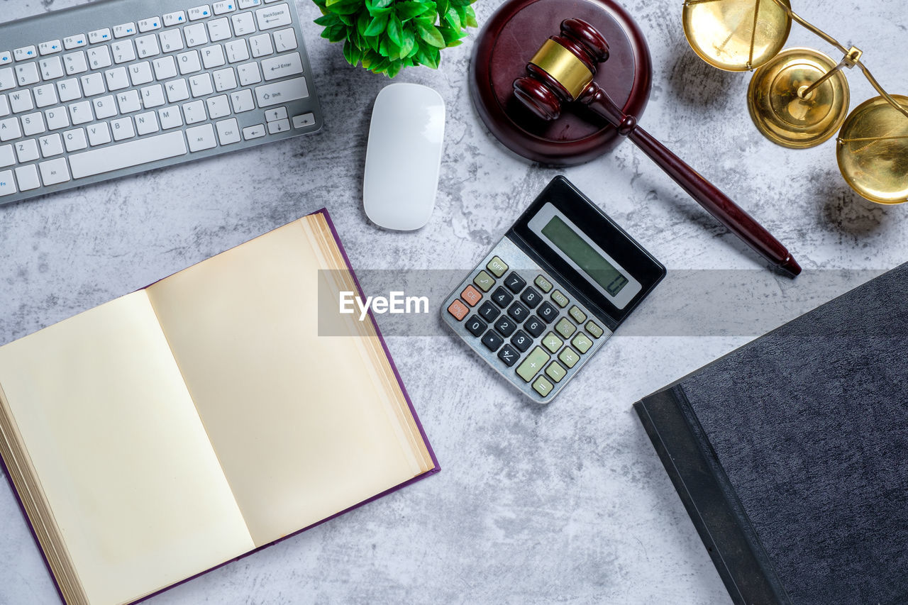 table, publication, book, technology, high angle view, indoors, no people, still life, calculator, communication, wireless technology, computer, paper, desk, connection, furniture, laptop, pen, business, education, blank, keyboard