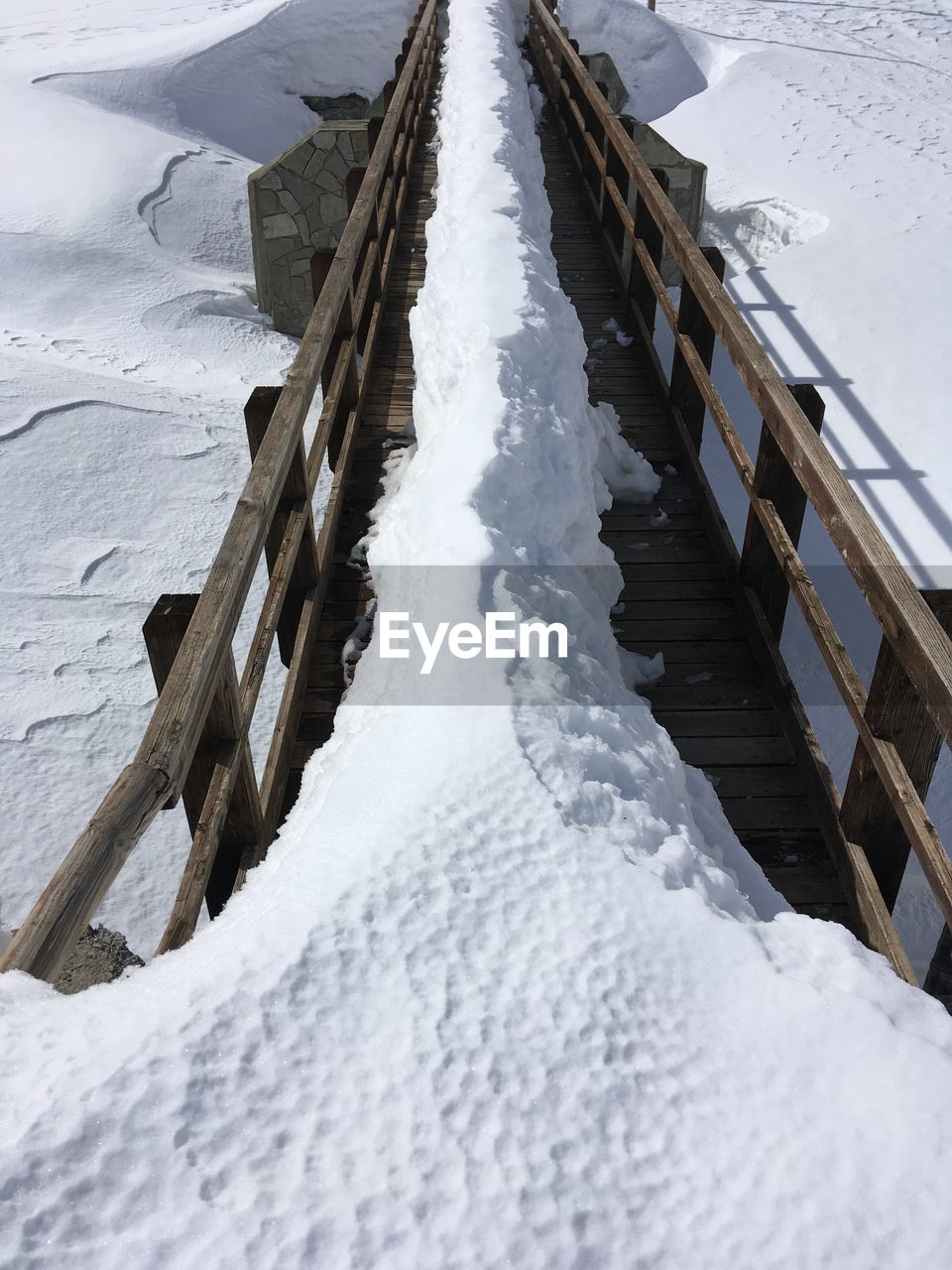 snow, cold temperature, winter, frozen, white color, day, covering, nature, ice, no people, beauty in nature, built structure, architecture, scenics - nature, wood - material, outdoors, environment, deep snow, land, icicle, extreme weather, snowcapped mountain, powder snow