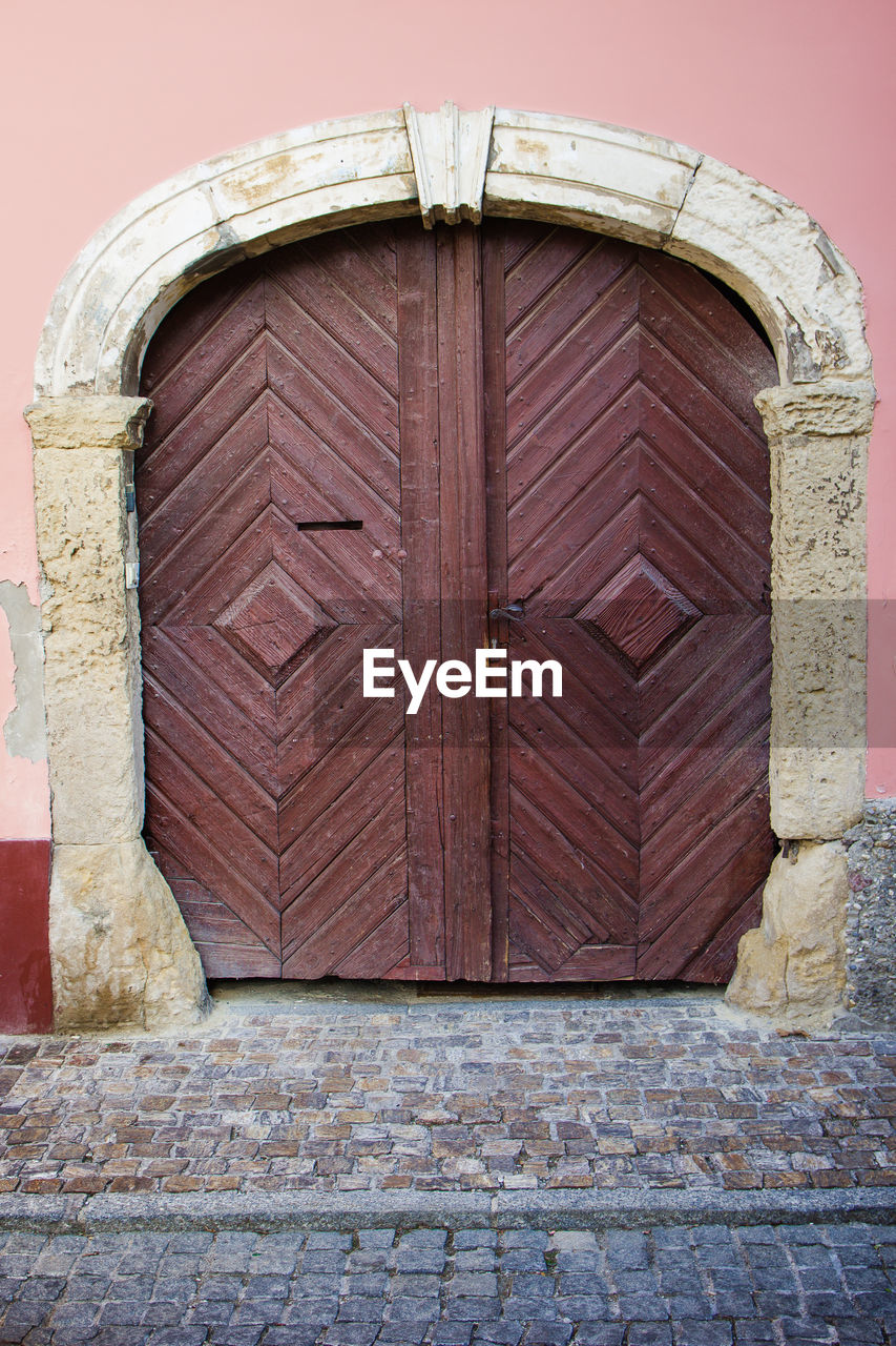 entrance, door, architecture, building exterior, built structure, closed, protection, safety, security, day, no people, wall, building, wood - material, history, outdoors, the past, arch, window, brick, stone wall