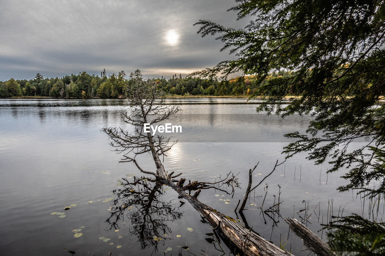 SCENIC VIEW OF LAKE WITH REFLECTION AGAINST SKY