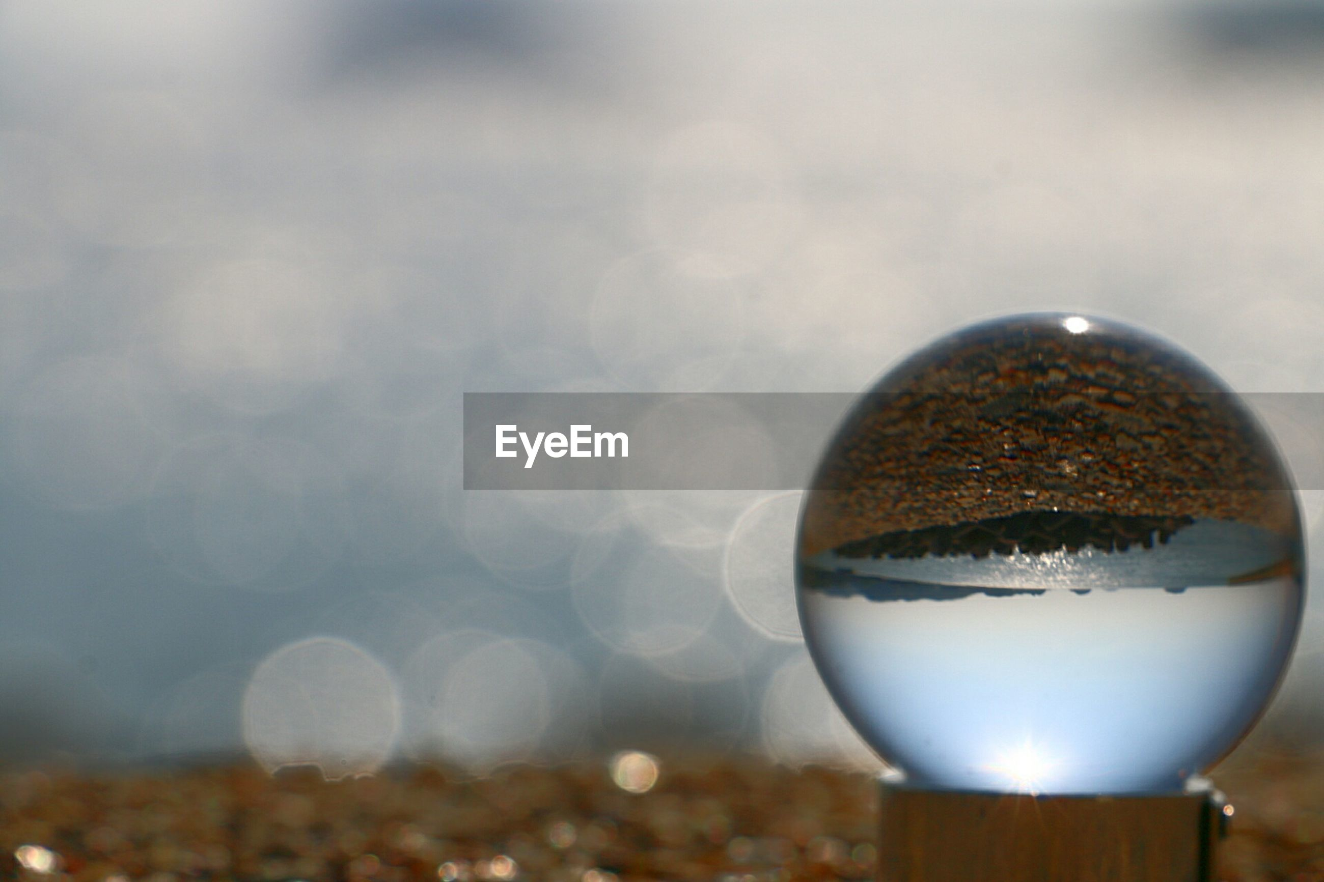 Close-up of crystal globe