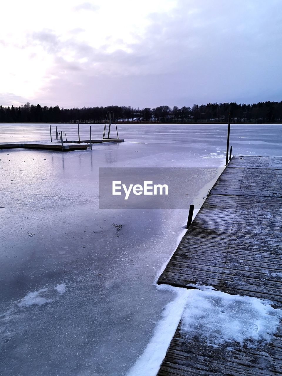 water, sky, cloud - sky, nature, cold temperature, tree, winter, no people, beauty in nature, scenics - nature, day, tranquility, lake, plant, snow, outdoors, pier, tranquil scene