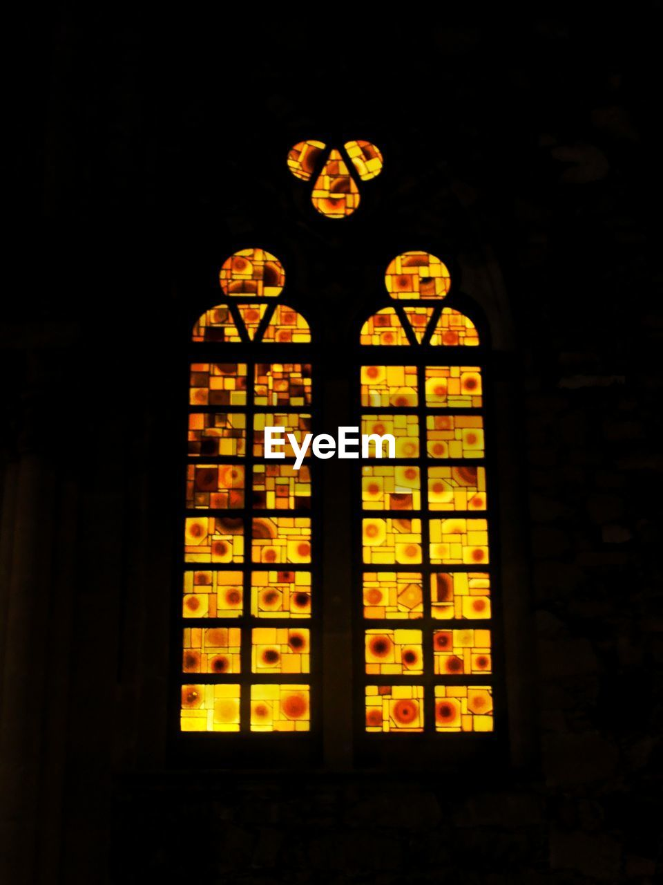 window, no people, indoors, place of worship, built structure, illuminated, night, architecture, close-up