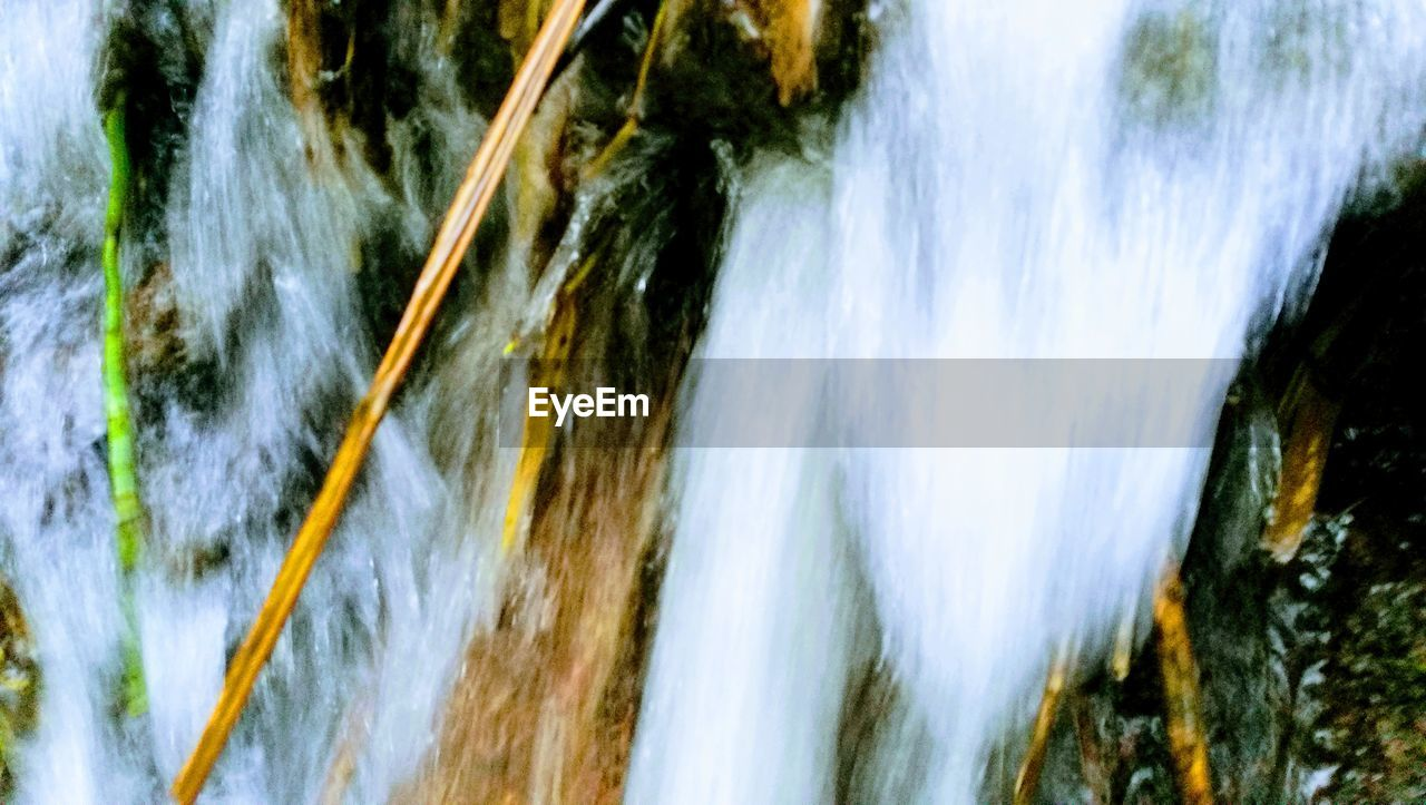 waterfall, motion, water, rock - object, no people, nature, river, outdoors, beauty in nature, day, close-up