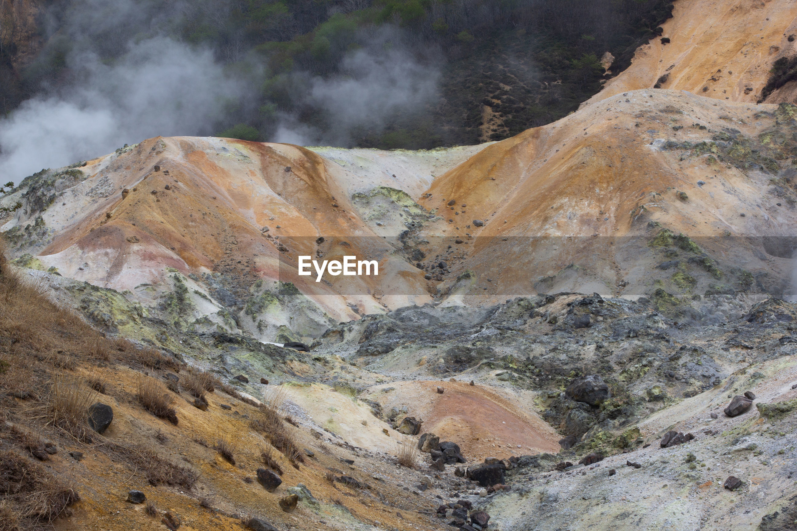 VIEW OF VOLCANIC LANDSCAPE