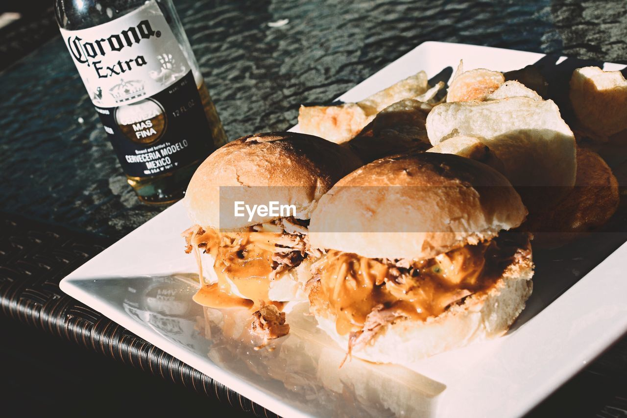 food and drink, food, no people, high angle view, freshness, day, close-up, outdoors, ready-to-eat, water, frozen food