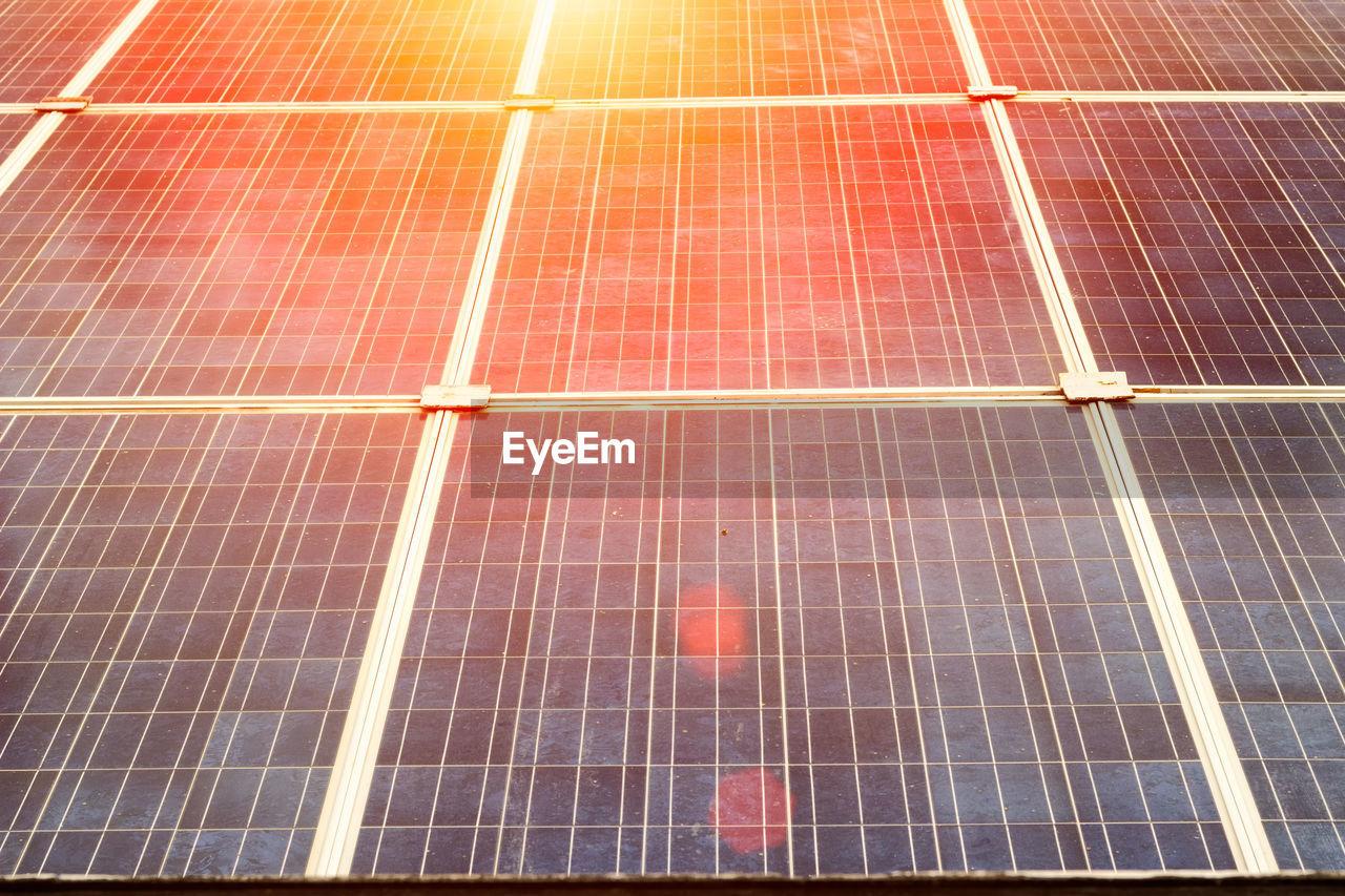 Full Frame Shot Of Solar Equipment
