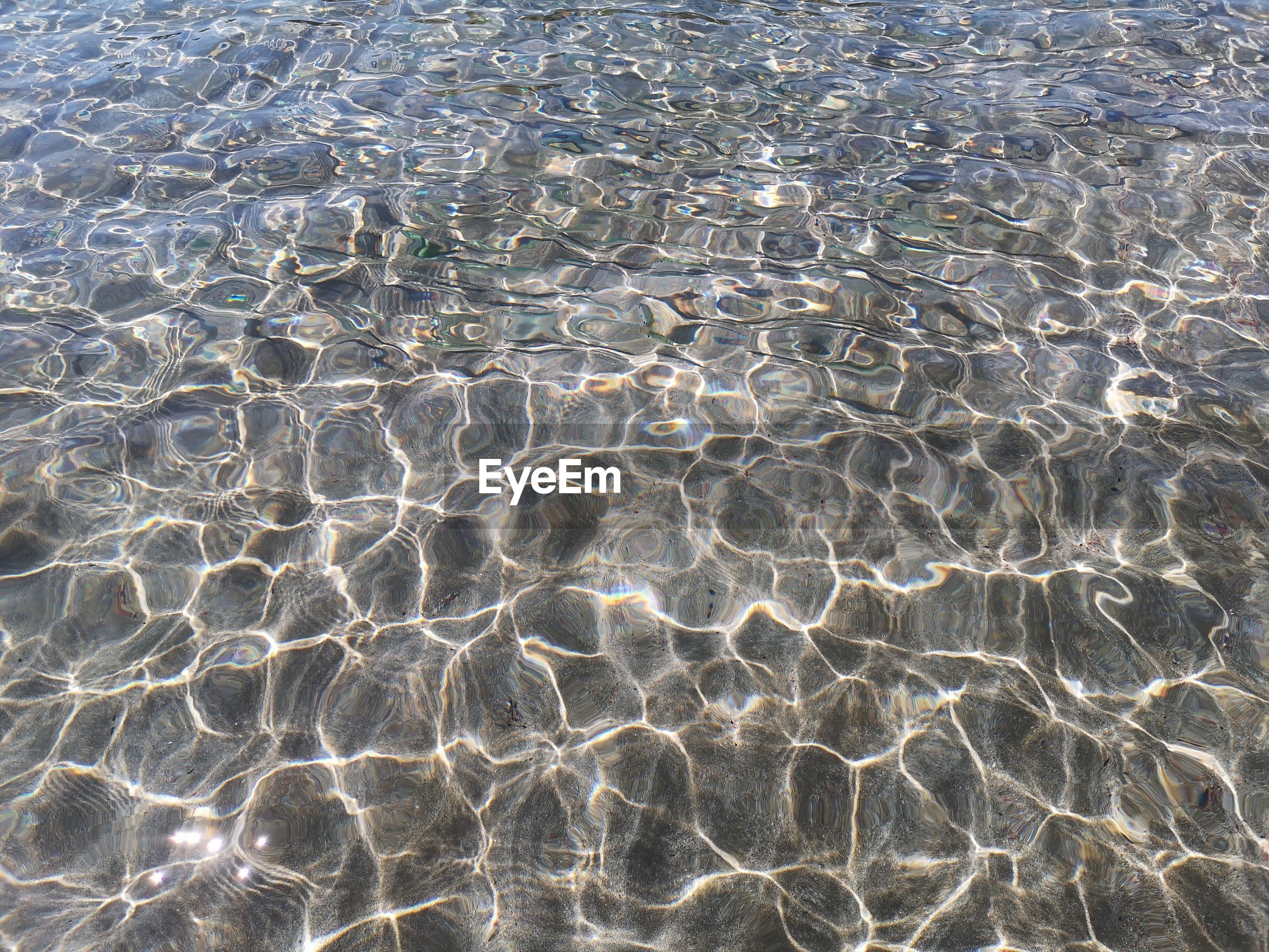 Full frame shot of rippled water at beach