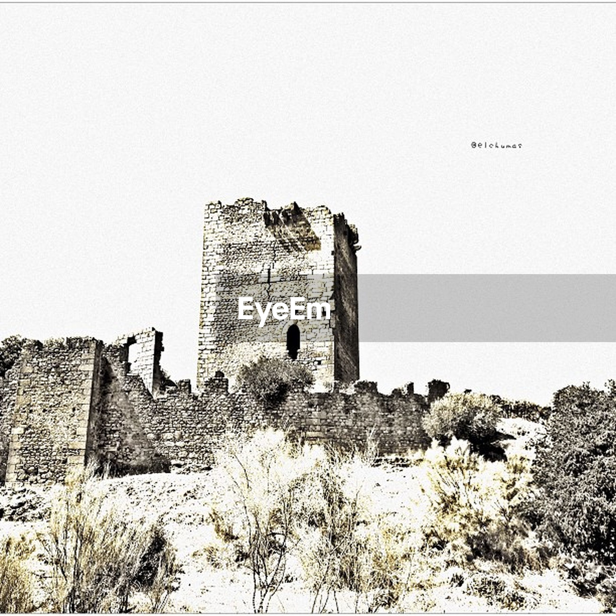 architecture, built structure, building exterior, clear sky, history, low angle view, old ruin, copy space, old, stone wall, abandoned, the past, damaged, ancient, obsolete, deterioration, castle, wall - building feature, run-down, ruined