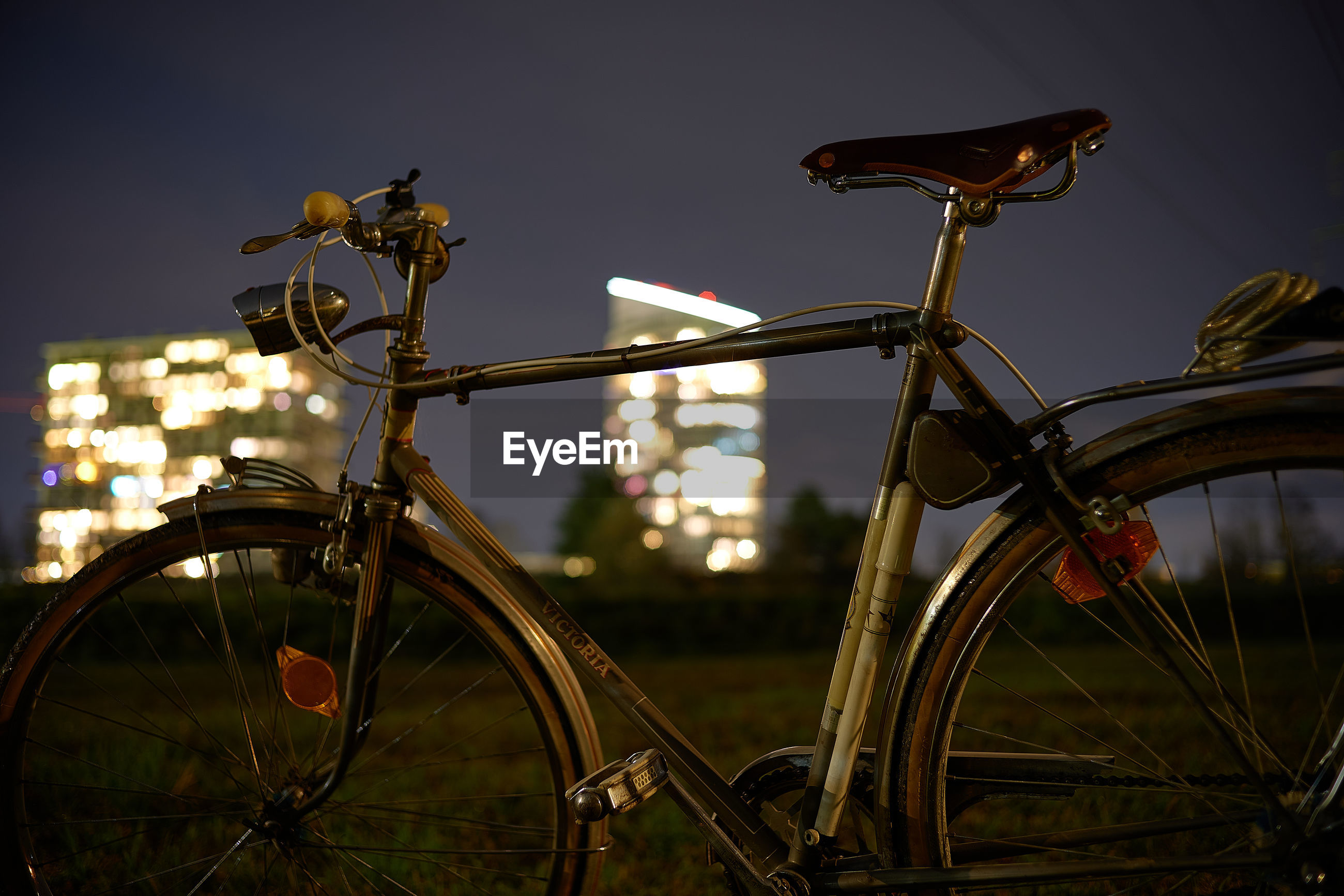 CLOSE-UP OF BICYCLE AGAINST SKY