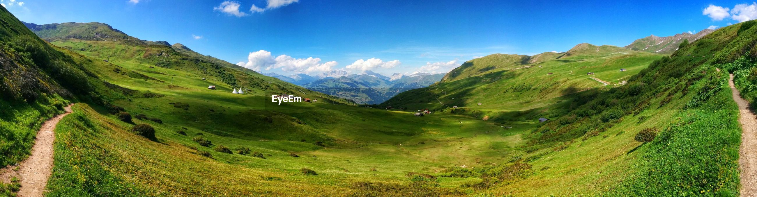 Panoramic view of valley