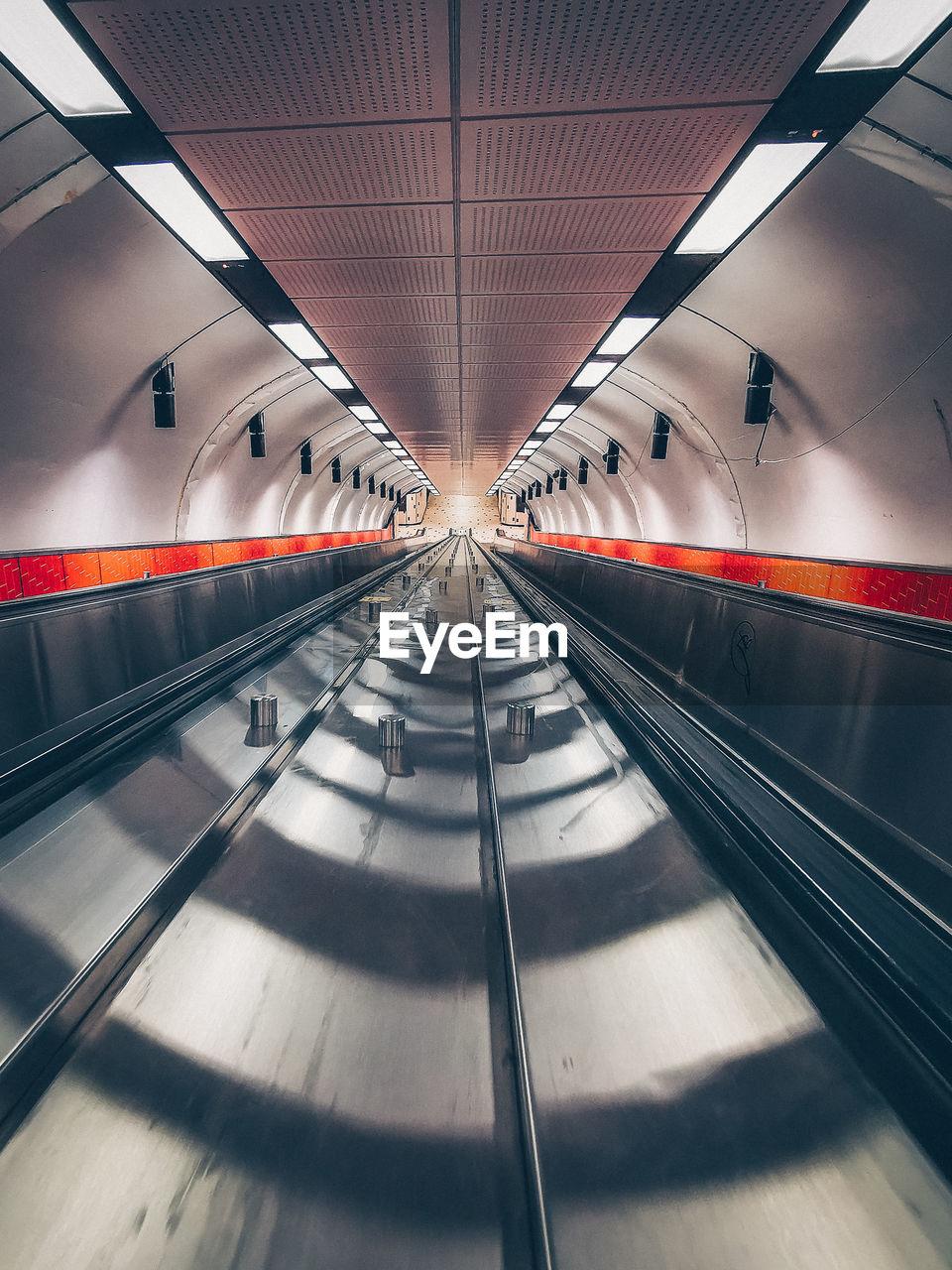 Empty subway station platform