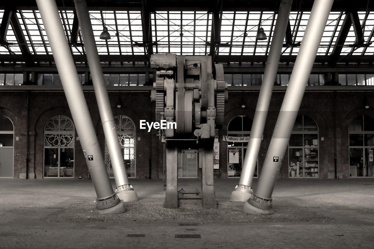 View of machinery indoors