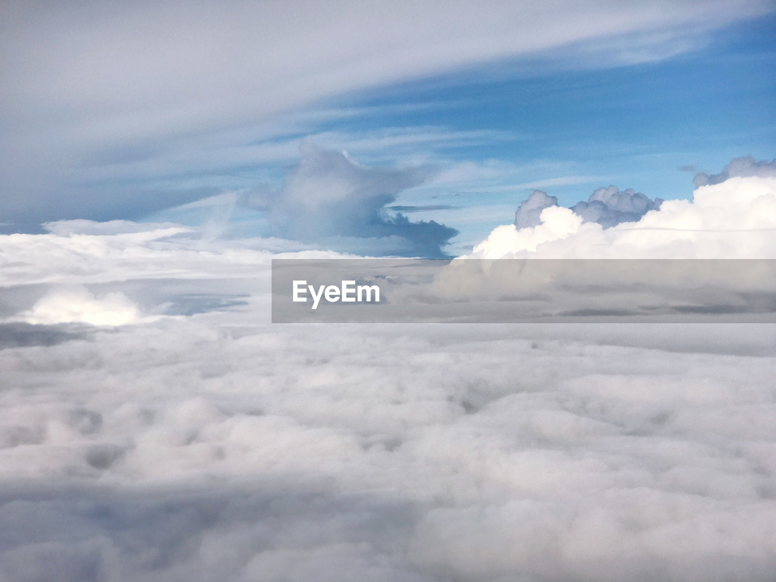 AERIAL VIEW OF CLOUDS OVER CLOUDSCAPE