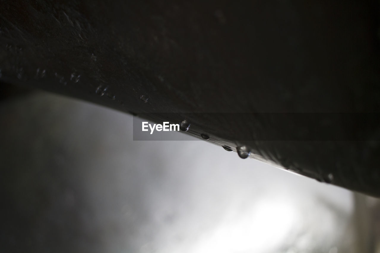 drop, rain, water, weather, rainy season, wet, raindrop, selective focus, no people, close-up, outdoors, low angle view, day, nature, sky, dripping