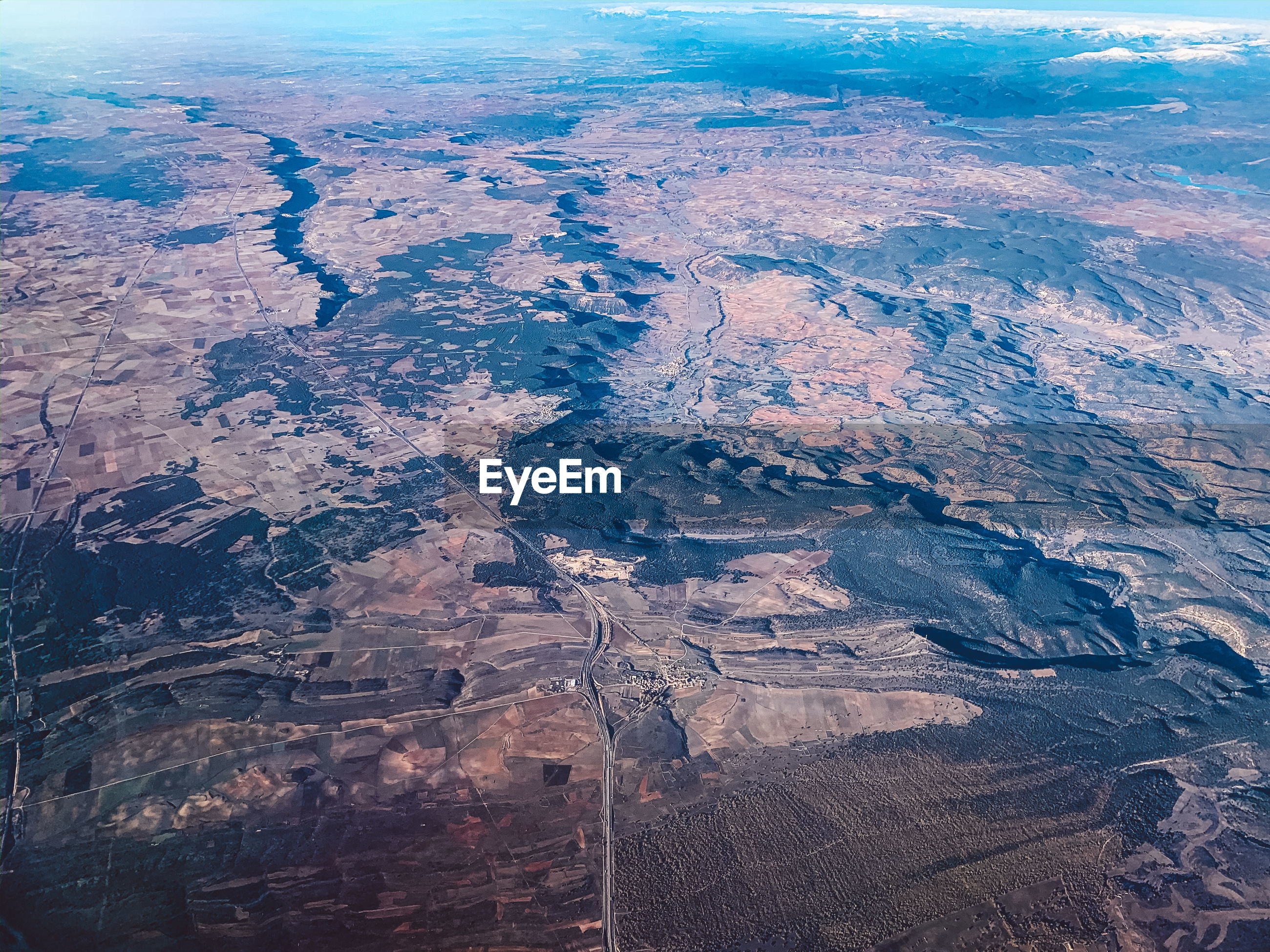 HIGH ANGLE VIEW OF AERIAL VIEW OF LAND