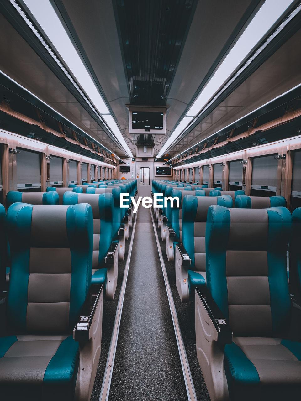 INTERIOR OF EMPTY TRAIN