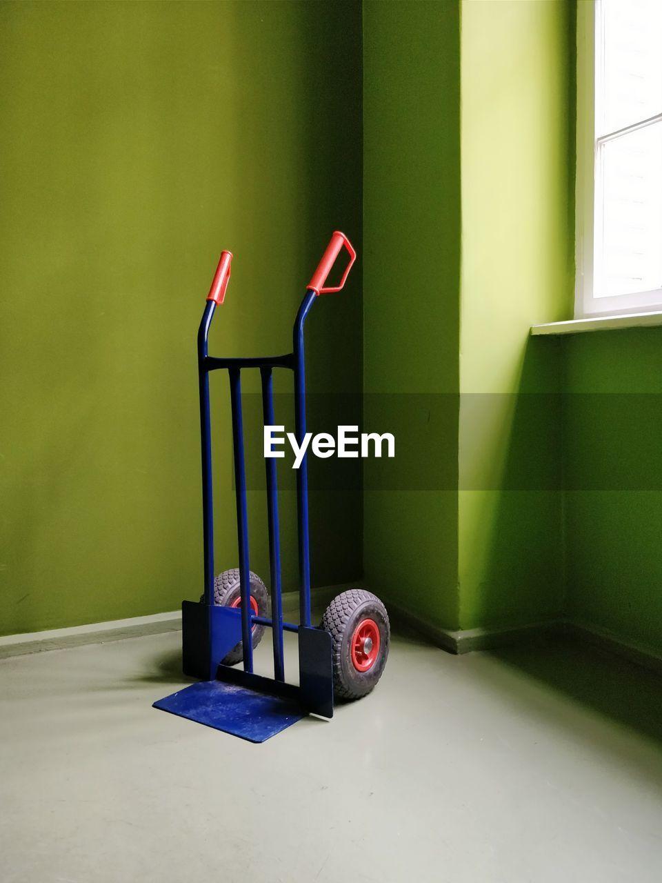 Forklift in room
