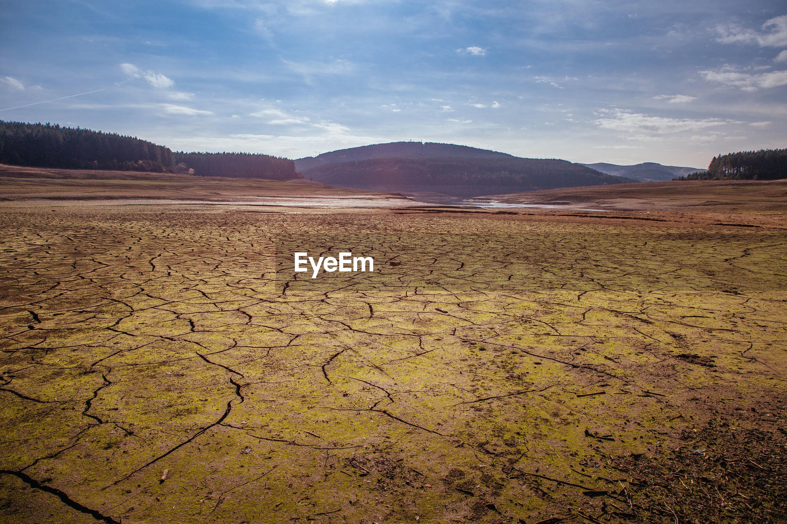 SCENIC VIEW OF BARREN LANDSCAPE AGAINST SKY