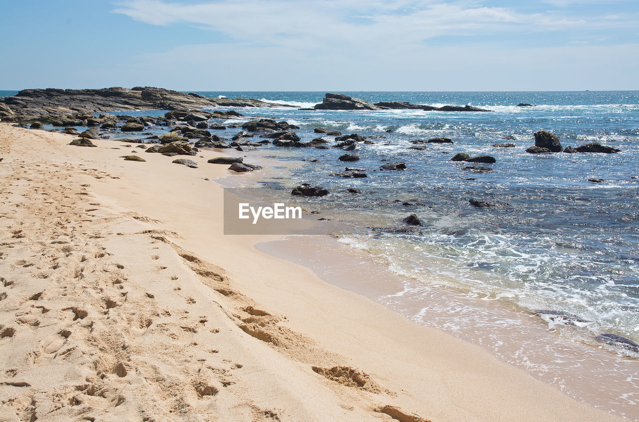 sea, beach, horizon over water, sand, beauty in nature, water, nature, sky, scenics, shore, wave, tranquil scene, tranquility, no people, day, outdoors
